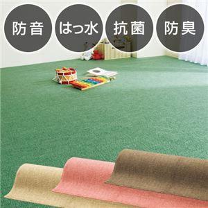 防音撥水抗菌防臭ループカーペット 2: 江戸間3畳 ブラウンの詳細を見る