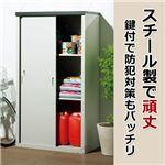 スチール製屋外収納庫(物置) 【3: 高さ162cm】 鍵付き 日本製