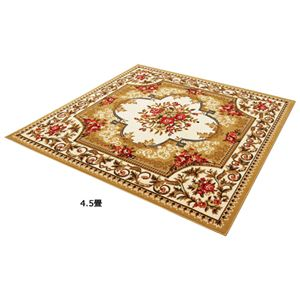 2柄3色から選べる!お買得ウィルトン織カーペット 王朝ベージュ 10: 長方形大の詳細を見る
