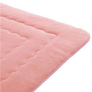ホットカーペットが付いたふわモコキルトラグ ピンク 6: 3cm厚 2畳サイズの詳細を見る