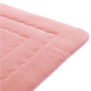 ホットカーペットが付いたふわモコキルトラグ ピンク 8: 3cm厚 4畳サイズの詳細を見る