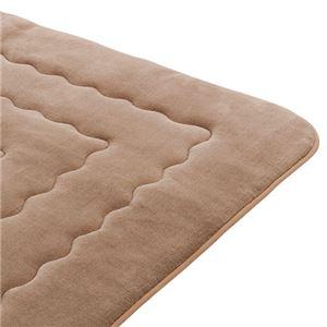 ホットカーペットが付いたふわモコキルトラグ ブラウン 5: 3cm厚 1.5畳サイズの詳細を見る