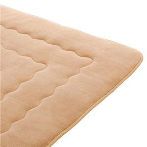 ホットカーペットが付いたふわモコキルトラグ ベージュ 5: 3cm厚 1.5畳サイズの詳細を見る