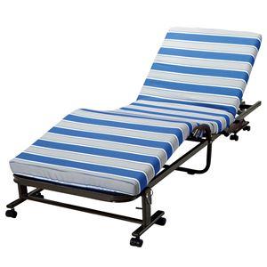 リクライニング折りたたみベッド 【1: セミシングル/幅85cm】 キャスター付き 組立不要