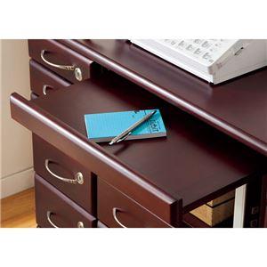 ファックス台/電話台 「全段鍵付き家具シリーズ」 【幅96cm】 木製 スライドテーブル付き の画像