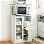 キッチンボード/キッチン収納庫 幅60cm×奥行39.5cm スライドテーブル/食器棚/レンジ置き/コンセント付き