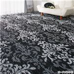 選べる撥水加工タフトカーペット/絨毯 【オーナメント柄 2: 江戸間3畳/長方形】 フリーカット可 日本製