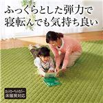 ふっくら5層構造断熱ラグマット 【長方形 130cm×180cm】 厚み約28mm ホットカーペットカバー/床暖房対応 グリーン(緑)