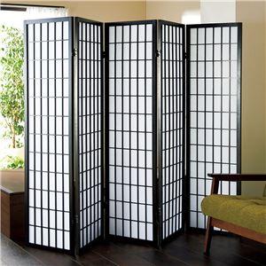 障子風スクリーン(パーテーション/衝立)5連高さ150cm枠:木製張地:不織布
