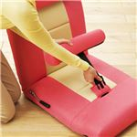腹筋ラクラクサポートチェア(座椅子/エクササイズ器具) 背部・脚部14段階リクライニング ピンク