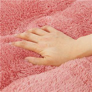 【訳あり・在庫処分】ふっかふかラグマット 単品 【厚さ3cm 2畳用 約190×190cm】 床暖可 ブラウン