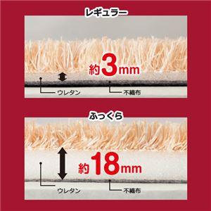 【訳あり・在庫処分】 厚みが選べる カラフルミックスシャギーラグ ダークグリーン 【10: レギュラー約3mm だ円約190×290cm】