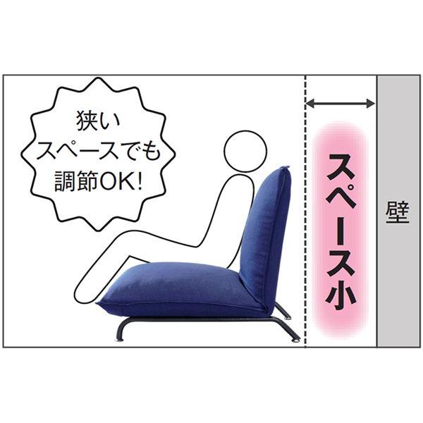 贅沢な座り心地の1人掛けソファーベッド 【グリーン】 42段階リクライニング 張地:ファブリック生地 スチール脚