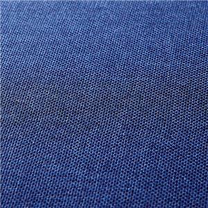 贅沢な座り心地の1人掛けソファーベッド 【ネイビー】 42段階リクライニング 張地:ファブリック生地 スチール脚