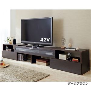 伸縮スイングテレビ台/テレビボード 【ガラス扉...の関連商品5
