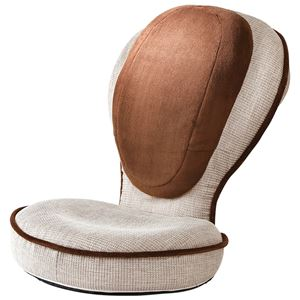 背筋がGUUUN美姿勢座椅子/フロアチェア 【ベージュ/ラージタイプ】 座面高11cm リクライニング28通り