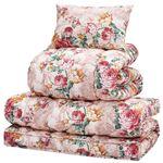 極厚敷布団付き寝具セット 【シングルサイズ 3点セット/ピンク】 掛け布団・枕セット