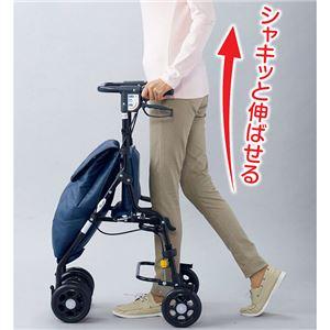 アンティ/座面付きショッピングカート ブルー(...の紹介画像2