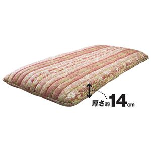 多機能5層構造健康敷布団/寝具 【セミダブルサイズ/ピンク】 日本製 〔抗菌・ 防臭・ 防ダニ・吸汗速乾〕