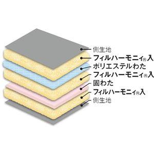 多機能5層構造健康敷布団/寝具 【シングルサイズ/ブルー】 日本製 〔抗菌・ 防臭・ 防ダニ・吸汗速乾〕