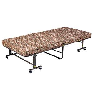 【組立不要】 高反発折りたたみベッド 【セミシングルサイズ/幅85cm】 高反発ウレタン使用 キャスター付き