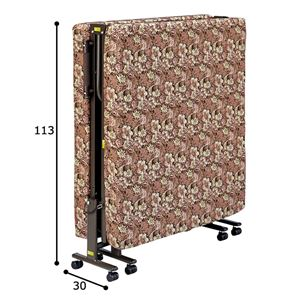 【組立不要】 高反発折りたたみベッド 【シングルサイズ/幅98cm】 高反発ウレタン使用 キャスター付き
