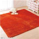 さらふわシャギーラグ ダークオレンジ 【9: 約120×120cm(サークル)】
