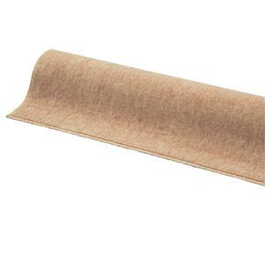 防ダニ・抗菌・防炎・フリーカットカーペット/絨毯 【261cm×261cm 江戸間4.5畳 ブラウン】 正方形 日本製 敷詰め型