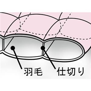 1年中使える2枚合わせ 羽毛掛け布団セット/寝具セット 【ダブル 5点セット ピンク】 オールシーズン対応