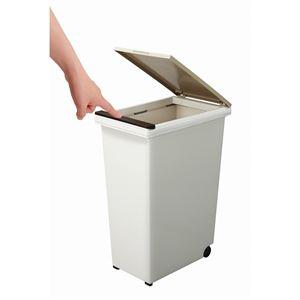 ゴミ箱/ダストボックス 【20L プッシュタイプ】 ふた付き キャスター付き 日本製 『エバンペール』