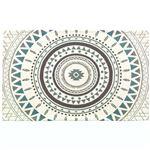 リゾートテイスト シェニール織ラグマット/絨毯 【長方形 約50cm×80cm サモア ブルー】 軽量 お手入れ簡単