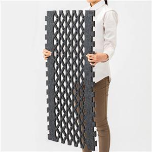 すのこ型吸湿マット/敷マット 【シングルサイズ ブラック】 日本製 吸湿・抗菌防臭・消臭・防ダニ エアアレルキャッチャー