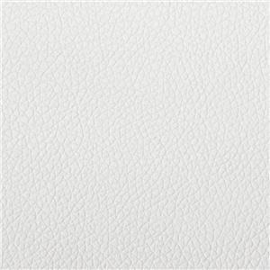 ゆったりボリュームワイドカウチソファ(リクライニングソファ・二人掛ソファ・ポケットコイル) アイボリー(PVC)
