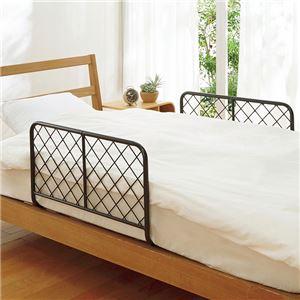 ずれ落ち防止!ベッドガード2個組 シルバー