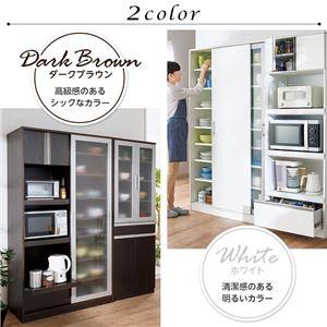 スタイリッシュキッチン収納シリーズ(キッチンボード・レンジボード・食器棚) 【食器棚】 ホワイト