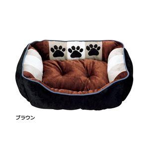 ふかふかペットベッド2(ペット用ベッド・寝床・洗える)(犬用・猫用・犬猫用・ドッグ・キャット) 【3L】 ブラウン