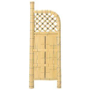 和モダン竹垣/パーテーション【幅45cm×高さ120cm】天然竹製エアコン室外機対応『白玉袖垣』〔庭屋外〕
