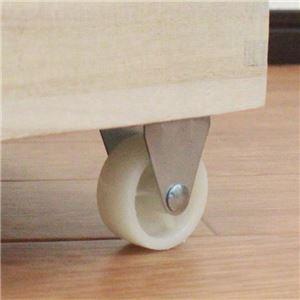 桐製 米びつ/ライスストッカー 【30kg】 幅18.5cm 木製 キャスター 取っ手 脚付き 〔キッチン ダイニング〕