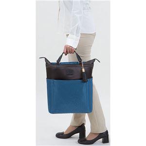 横引き型 ショッピングカート/キャリーバッグ 【ブルー】 幅29cm 湾曲ハンドル キャスター付き 『スワニー』