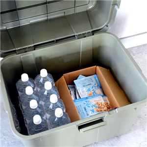収納コンテナ/マルチスペースボックスセット 【2個組 ダークグリーン】 幅62cm 日本製 プラスチック キャスター付き