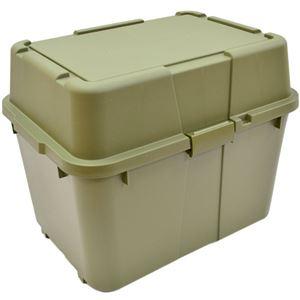 収納コンテナ/マルチスペースボックスセット 【4個組 ダークグリーン】 幅62cm 日本製 プラスチック キャスター付き