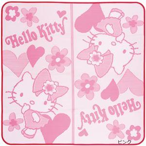ハローキティ PPラグマット/絨毯 【ピンク】 約176cm×176cm ポリプロピレン 水・汚れに強い 〔リビング〕