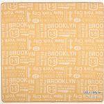 ブルックリンスタイル ラグマット/絨毯 【ベージュ 約130cm×185cm】 長方形 洗える 綿混 ホットカーペット・床暖房可 ウレタン