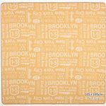 ブルックリンスタイル ラグマット/絨毯 【ベージュ 約185cm×240cm】 長方形 洗える 綿混 ホットカーペット・床暖房可 ウレタン
