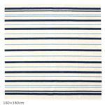 タフトラグ/絨毯 【180cm×180cm 約2.0畳】 日本製 抗菌 綿混 『ブルーライン』 〔リビング ダイニング〕