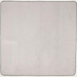 シンプル ラグマット/絨毯 【グレー 約185×185cm】 正方形 ホットカーペット対応 防滑加工 ウレタンフォーム