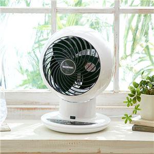 強力コンパクト サーキュレーター/扇風機 【ホワイト】 上下左右首振り 18畳迄 タイマー リズム機能 リモコン付き
