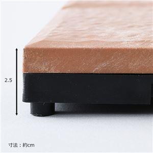 セラミック調 ジョイントタイル 10枚組 【ブラウン】 正方形 幅29.5cm 簡単設置 〔ガーデニング用品〕