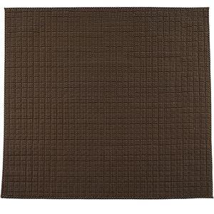 さわやかキルトラグマット/絨毯【ブラウン約185cm×185cm】洗える綿100%防滑『グロワール』〔リビング〕