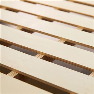 3段リクライニング すのこベッド (フレームのみ) 【シングル ダークブラウン】 収納付き 手動ギア式 スチールパイプ 〔寝室〕